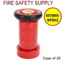 6510805-NPSH2 - FIRE HOSE NOZZLE 1.5 Inch RED LEXAN NPSH UL/FM - Case of 20