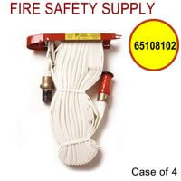 65108102 - FIRE HOSE RACK PACK 1.5 Inch X 75 Feet W/RED PLASTIC NOZZLE - Case of 4