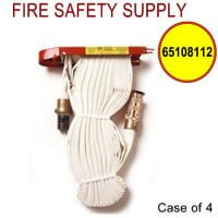 65108112 - FIRE HOSE RACK PACK 1.5 Inch X 75 Feet W/BRASS NOZZLE - Case of 4