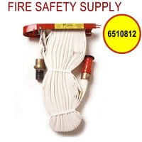 6510812 - FIRE HOSE RACK PACK 1.5 Inch X 100 Foot W/RED PLASTIC NOZZLE