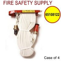 65108122 - FIRE HOSE RACK PACK 1.5 Inch X 100 Foot W/RED PLASTIC NOZZLE - Case of 4