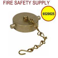 6520025 - FIRE HOSE CAP & CHAIN 1-1/2 Inch NST BRASS