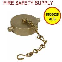 6520025ALB - FIRE HOSE CAP & CHAIN 1-1/2 Inch NST ALUM BRASS