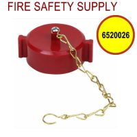 6520026 - FIRE HOSE CAP and CHAIN 1-1/2 Inch NST PLASTIC RED