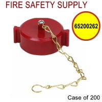 65200262 - FIRE HOSE CAP and CHAIN 1-1/2 Inch NST PLASTIC RED - Case of 200