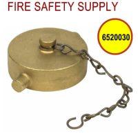 6520030 - FIRE HOSE CAP & CHAIN 2-1/2 Inch NST BRASS