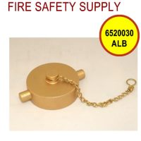 6520030ALB - FIRE HOSE CAP & CHAIN 2-1/2 Inch NST ALUM BRASS