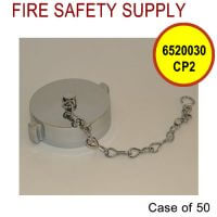 6520030CP2 - FIRE HOSE CAP And CHAIN 2-1/2 Inch NST BRASS CHROME PLATE - Case of 50