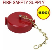 6520031 - FIRE HOSE CAP And CHAIN 2-1/2 Inch NST PLASTIC RED