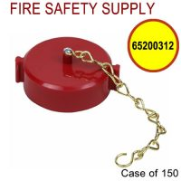 65200312 - FIRE HOSE CAP And CHAIN 2-1/2 Inch NST PLASTIC RED - Case of 150