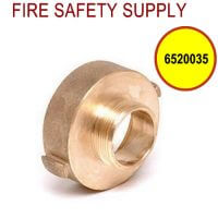 6520035 - FIRE HOSE REDUCING ADAPTER 2.5 Inch (F)NSTX 1.5 Inch (M)NST BRASS
