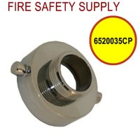 6520035CP - FIRE HOSE REDUCING ADAPTER CHROME PL 2.5 Inch (F)NST X1.5 Inch (M)NST