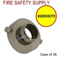 6520035CP2 - FIRE HOSE REDUCING ADAPTER CHROME PL 2.5 Inch (F)NST X1.5 Inch (M)NST - Case of 36