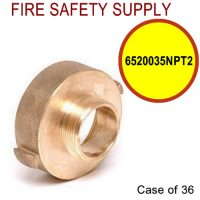 6520035NPT2 - FIRE HOSE REDUCING ADAPTER 2.5 (F)NST X 3 and 4 Inch (M)NPT - Case of 36