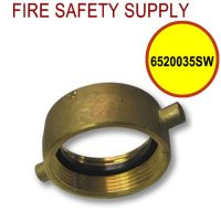 6520035SW - FIRE HOSE ADAPTER SWIVEL ONLY 2.5 NST BR