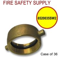 6520035SW2 - FIRE HOSE ADAPTER SWIVEL ONLY 2.5 NST BR - Case of 36