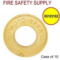 65103102 - FDC WALLPLATE 2-1/2 Inch IPS BRASS (AUTO SPRINK) - Case of 10