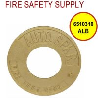 6510310ALB - FDC WALLPLATE 2-1/2 Inch IPS ALUM BRASS (AUTO SPRINK)