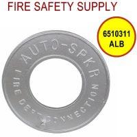 6510311ALB - FDC WALLPLATE 2-1/2 Inch CHROME PLATED ALUM BRASS