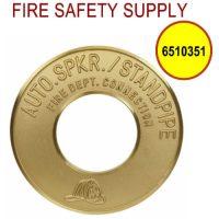6510351 - FDC WALLPLATE 4 Inch IPS X 10 Inch OD BRASS (AUTO SPK/STANDPIPE)