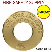 65103512 - FDC WALLPLATE 4 Inch IPS X 10 Inch OD BRASS (AUTO SPK/STANDPIPE) - Case of 12