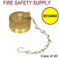 65104002 - FDC PLUG&CHAIN 1-1/2 Inch NST BRASS - Case of 40