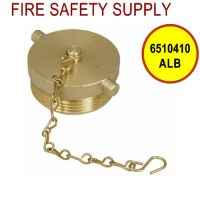 6510410ALB - FDC PLUG and CHAIN 2-1/2 Inch NST ALUM BRASS