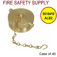 6510410ALB2 - FDC PLUG and CHAIN 2-1/2 Inch NST ALUM BRASS - Case of 40
