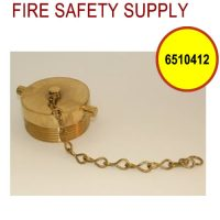 6510412 - FDC PLUG and CHAIN 2-1/2 Inch NST POLISHED BRASS