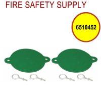 6510452 - FDC BREAKABLE CAPS ALUMINUM 3 Inch (GREEN)