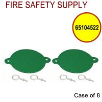 65104522 - FDC BREAKABLE CAPS ALUMINUM 3 Inch (GREEN) - Case of 8