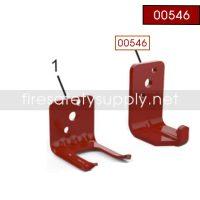 Amerex 00546 Bracket Wall 801 5 lb. Carbon Dioxide Red