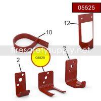 Amerex 05525 Bracket Wall 820 Aluminum Red