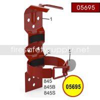 Amerex 05695 Bracket Strap Assembly 845 Black