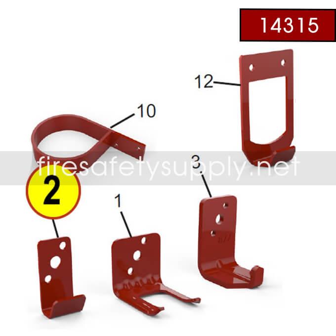 Amerex 14315 Bracket Wall 816 Stainless Steel Brass Valve