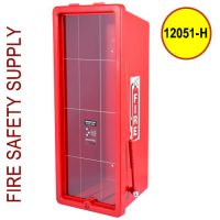 Cato Cabinet 12051-H - 20lb. Red Cabinet , Red Cover, Clear Front, with red hammer H28 Inch x W11 Inch xD9 Inch OD