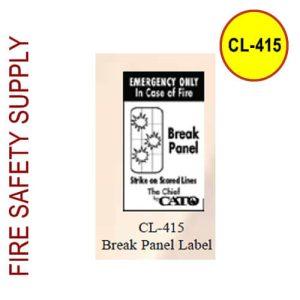 Cato CL-415 Cato Break Panel Label