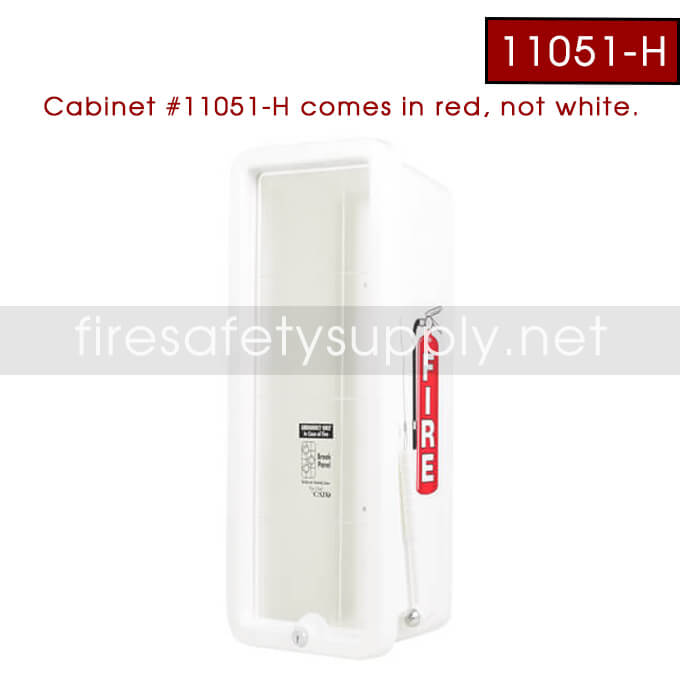 Cato Cabinet 11051-H 10lb. Red Cabinet, Red Cover, Clear Front, with red hammer H23 Inch x W9 Inch xD7 Inch OD