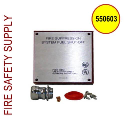 Pyro-Chem 550603 GVB Box Assembly, Gas Valve, Red
