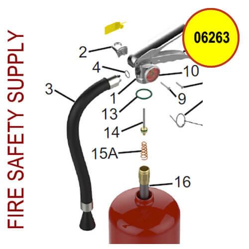 06263 Amerex Hose Assembly 3/8WP .128RD EN3