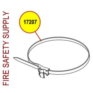 "Amerex 17207 Strap and Insert BK 3/8 X 4.25"""
