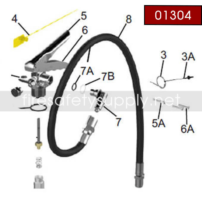 Amerex 01304 Hose Assembly Br 3/8″x.157