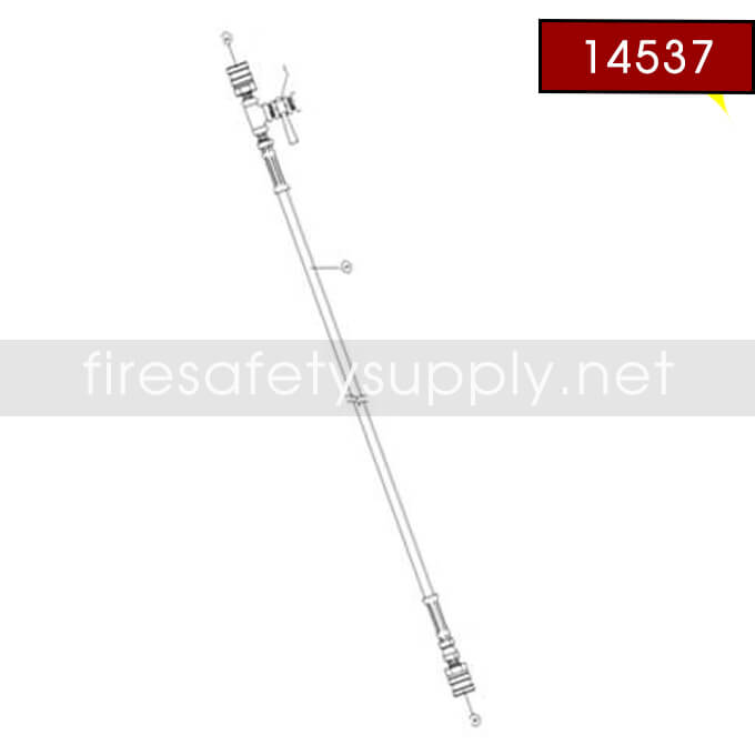 Amerex 14537 Hose Assembly 1/4 X 6 Mxf Halo
