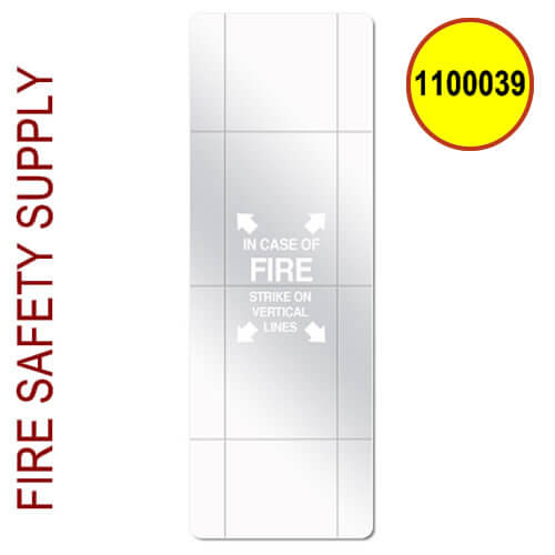 1100039 Scored Replacement Glass for 5lb Cabinet, 8 x 18