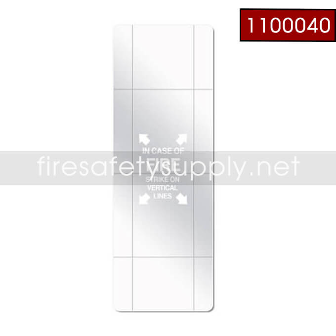 1100040 Scored Replacement Glass for 10lb Cabinet, 9 x 24