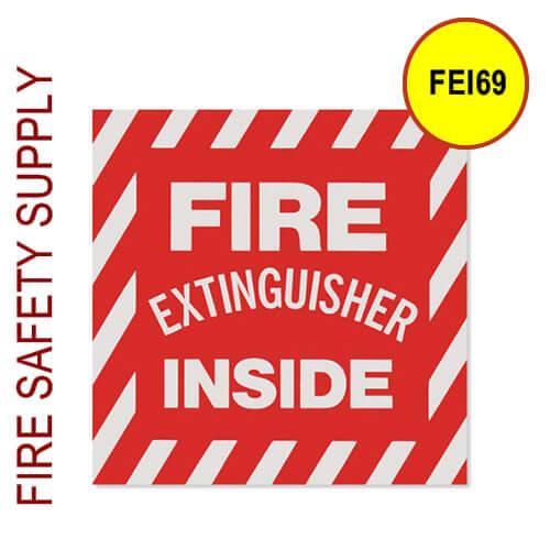 "FEI69 6""X9"" ""Fire Extinguisher Inside"" Sticker"