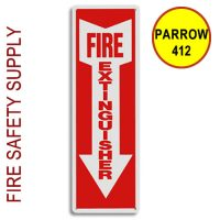 "PARROW412 4""X12"" ""Fire Extinguisher"" Plastic Arrow"