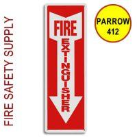 "PARROW412 4""X12"" ""Fire Extinguisher"" Plastic Arrow"