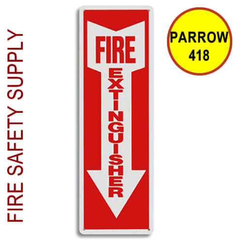 "PARROW418 4""X18"" ""Fire Extinguisher"" Plastic Arrow"
