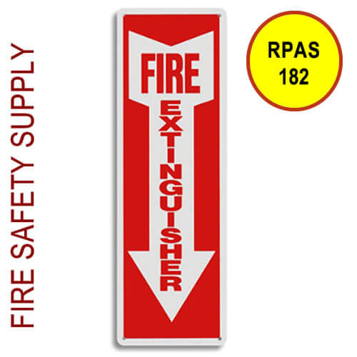 """RPAS182 3D 5""""X6"""" """"Fire Extinguisher Arrow"""""""